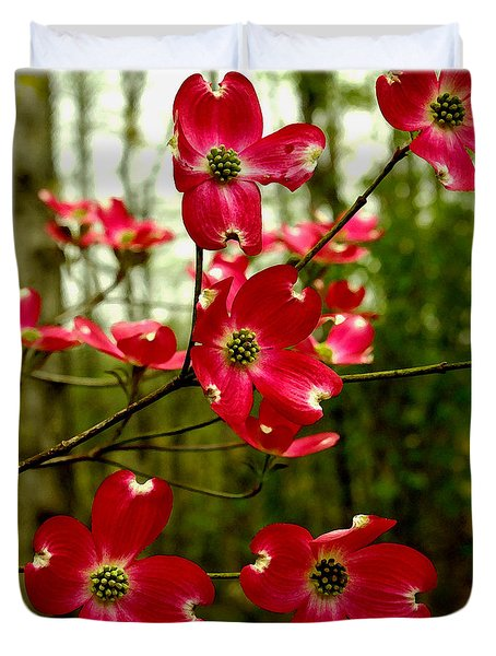 Dogwood Blooms In The Spring Duvet Cover