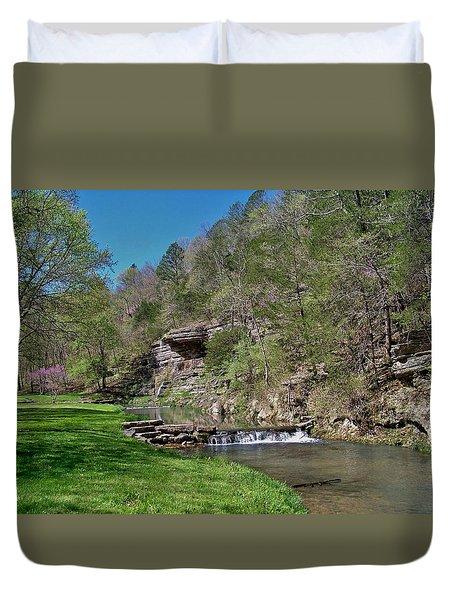 Dogwood Canyon Cliffs Duvet Cover