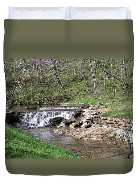Dogwood Canyon Waterfall 2 Duvet Cover by Julie Grace