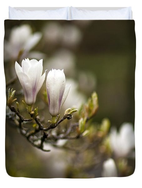 Dogwood Gathering Duvet Cover by Mike Reid