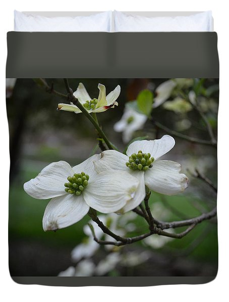 Duvet Cover featuring the photograph Dogwood by Linda Geiger
