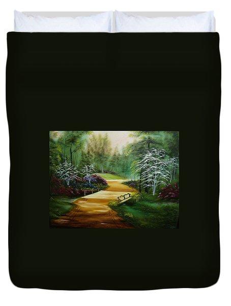Dogwoods In Springtime Duvet Cover