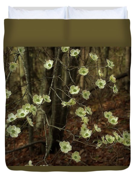 Duvet Cover featuring the photograph Dogwoods In The Spring by Mike Eingle