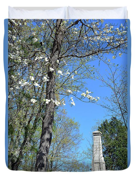 Dogwoods On Crest Of Kings Mountain National Military Park Duvet Cover by Bruce Gourley