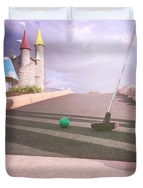 Mini Golf Duvet Cover