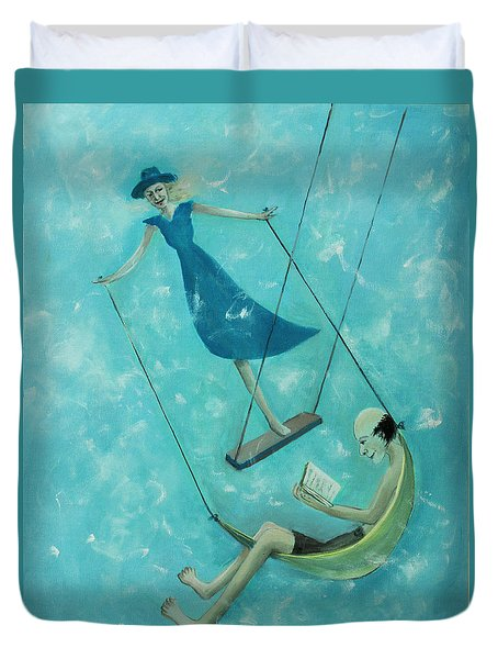 Doing The Swing Duvet Cover by Tone Aanderaa