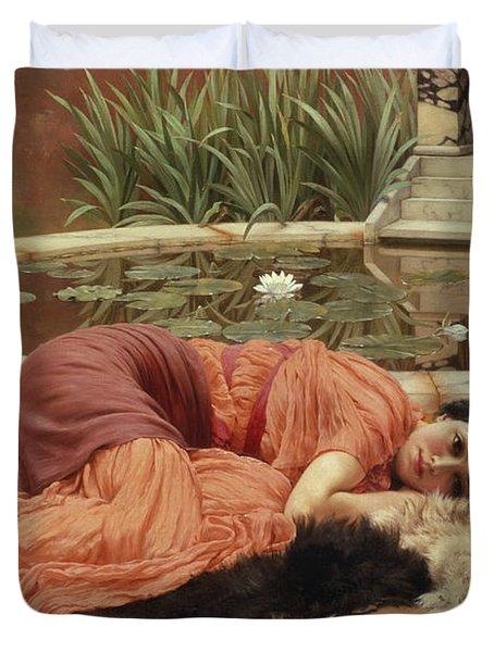 Dolce Far Niente Duvet Cover by John William Godward