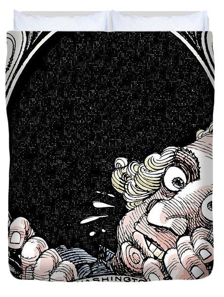 Dollar Fear Duvet Cover