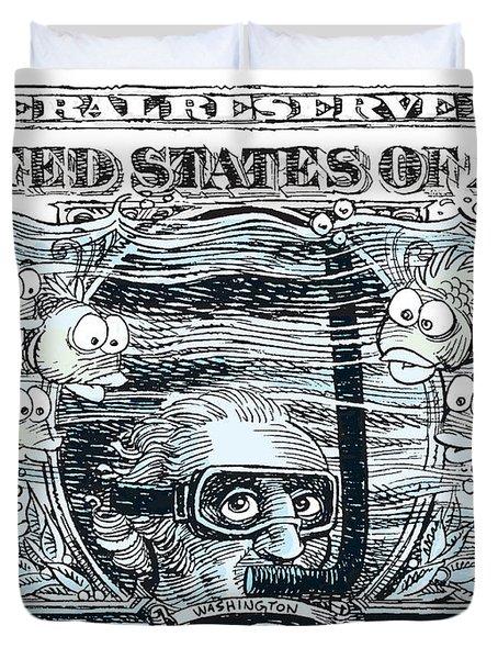 Dollar Submerged Duvet Cover
