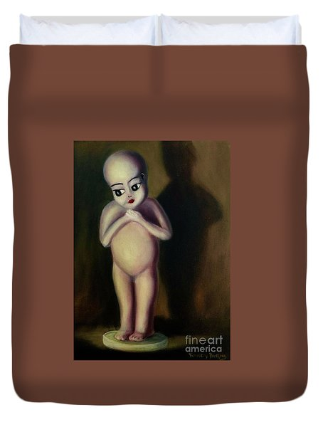 Duvet Cover featuring the painting Dollie by Randol Burns