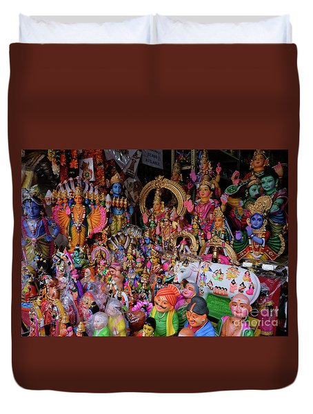 Dolls In The Shop Window Duvet Cover