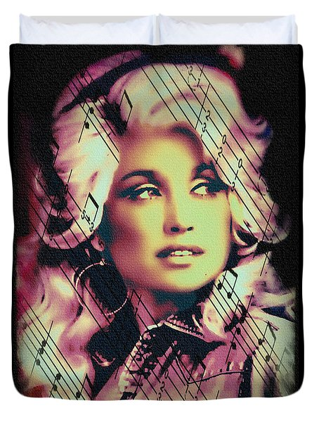 Dolly Parton - Digital Art Painting Duvet Cover