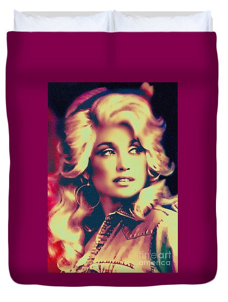 Dolly Parton - Vintage Painting Duvet Cover
