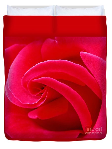 Dolly Parton's Red Rose Duvet Cover by Scott Cameron