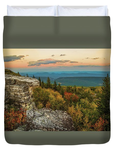 Dolly Sods Autumn Sundown Duvet Cover