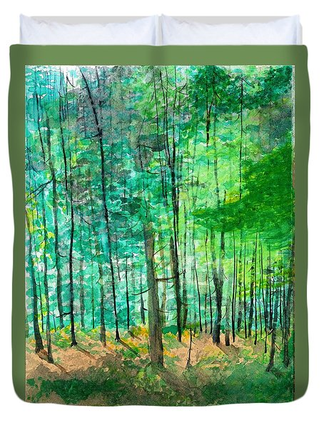 Dolly Sods Trees Duvet Cover by David Bartsch