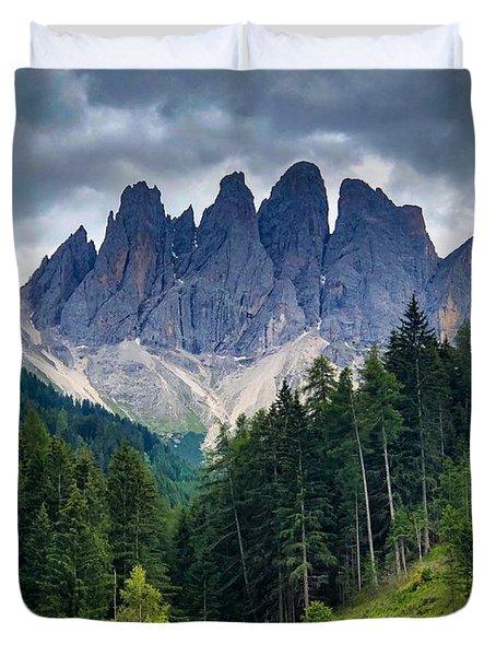 Dolomite Drama Duvet Cover