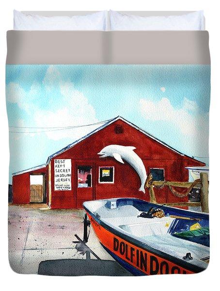 Dolphin Dock II Duvet Cover