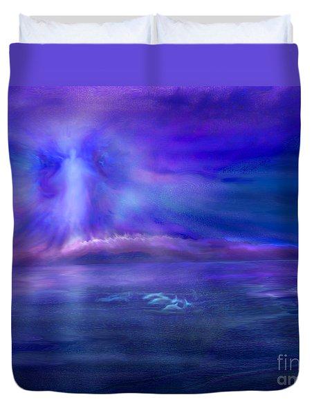 Dolphin Dreaming Duvet Cover