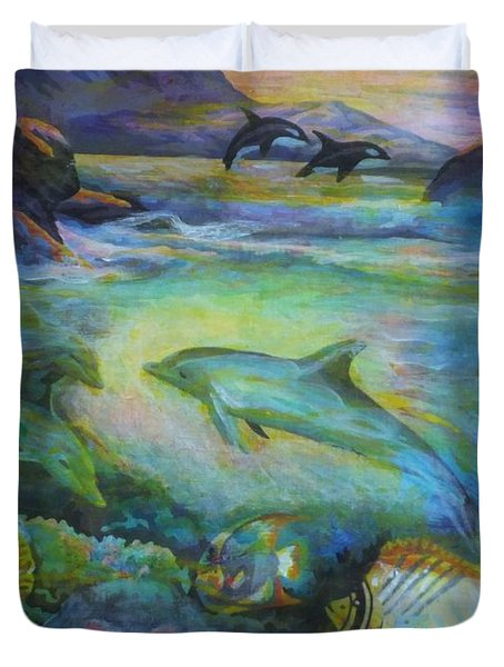 Dolphin Fantasy Duvet Cover