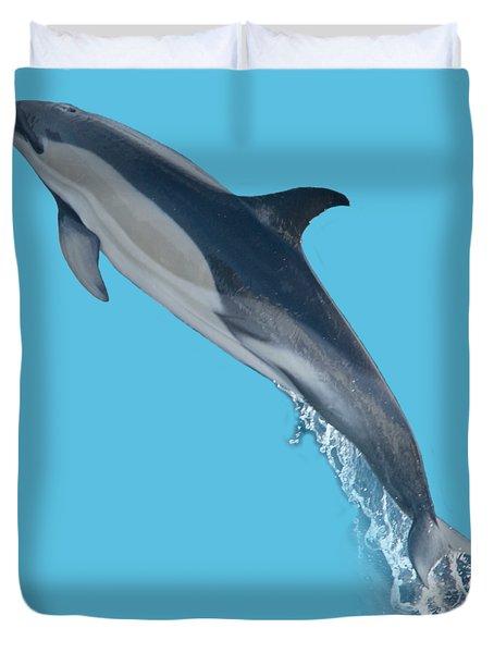 Dolphin Leaping T-shirt Duvet Cover