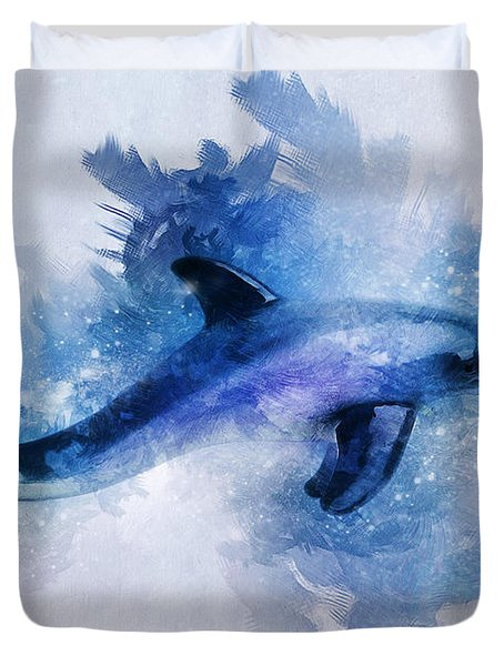 Dolphins Freedom Duvet Cover