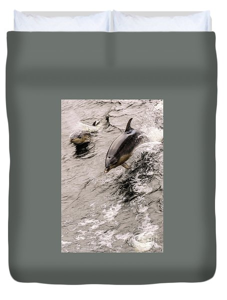 Dolphins Duvet Cover by Werner Padarin