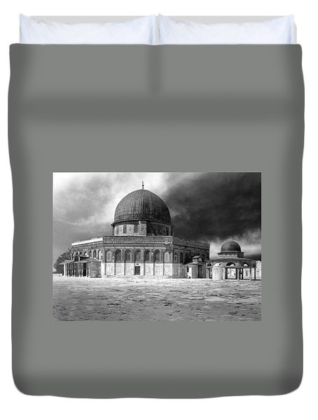 Dome Of The Rock - Jerusalem Duvet Cover by Munir Alawi
