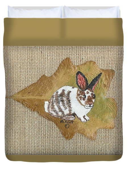 domestic Rabbit Duvet Cover by Ralph Root