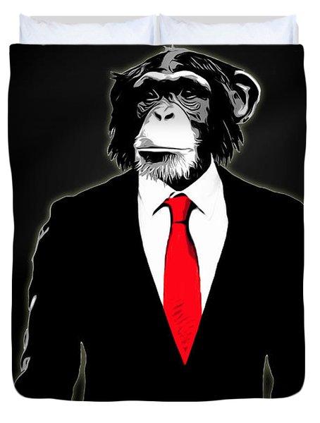 Domesticated Monkey Duvet Cover