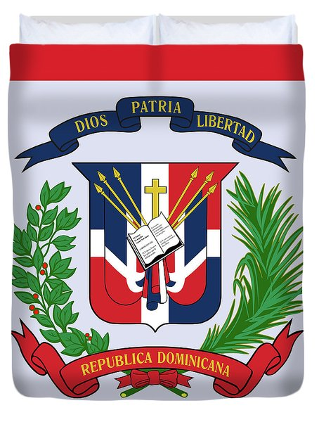Dominican Republic Coat Of Arms Duvet Cover by Movie Poster Prints
