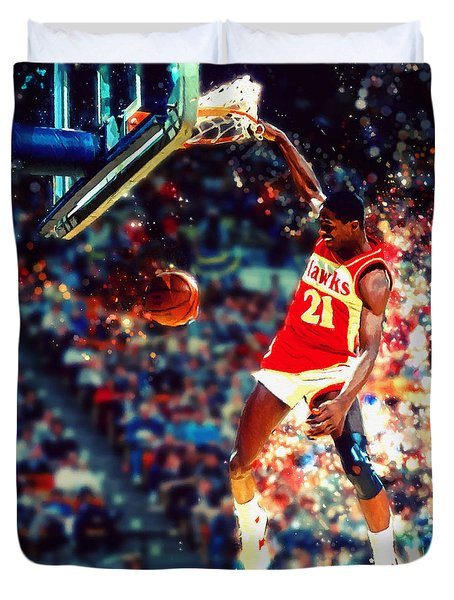 Dominique Wilkins - Nba Legend Duvet Cover