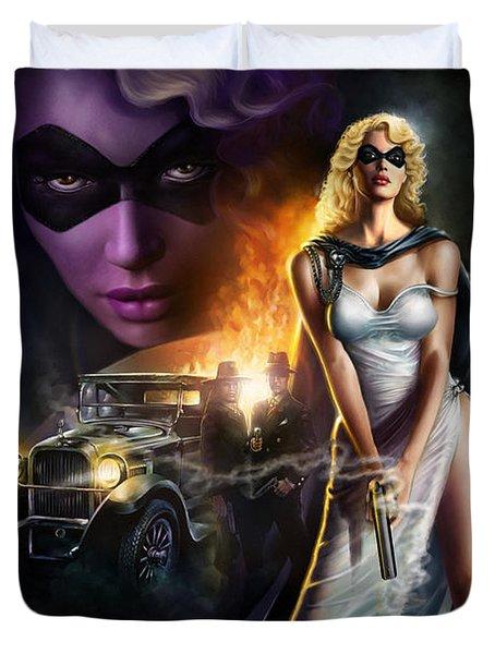 Domino Lady Duvet Cover