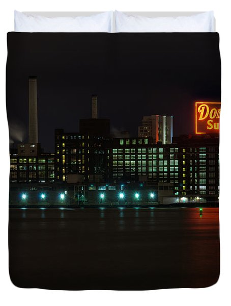 Domino Sugars Wide Duvet Cover by Mark Dodd