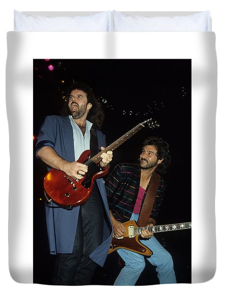 Don Barnes And Jeff Carlisi Of 38 Special Duvet Cover
