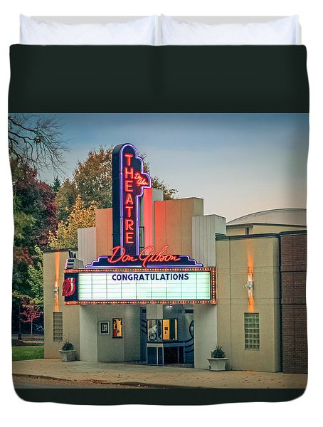 Don Gibson Theatre Duvet Cover by Marion Johnson