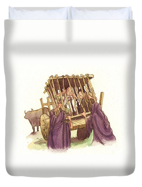 Don Quixote Caged Duvet Cover