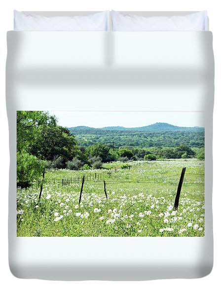 Duvet Cover featuring the photograph Done In White by Joe Jake Pratt