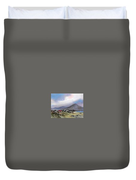 Galway..storm Over The Diamond Hill Duvet Cover