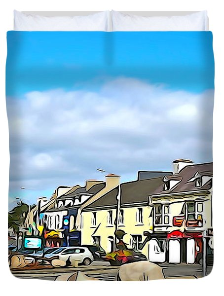 Donegal Town Duvet Cover by Charlie and Norma Brock