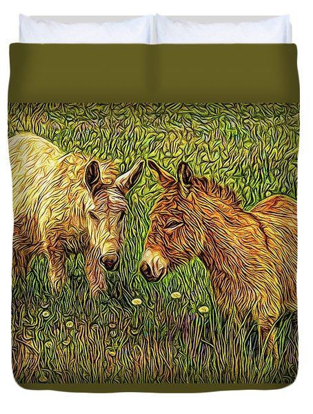 Donkey Confidential Duvet Cover by Joel Bruce Wallach