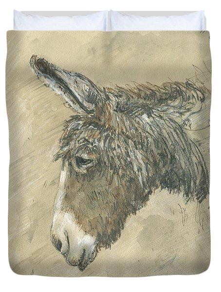 Donkey Portrait Duvet Cover