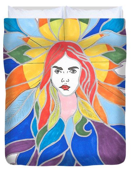 Donna Soul Portrait Duvet Cover