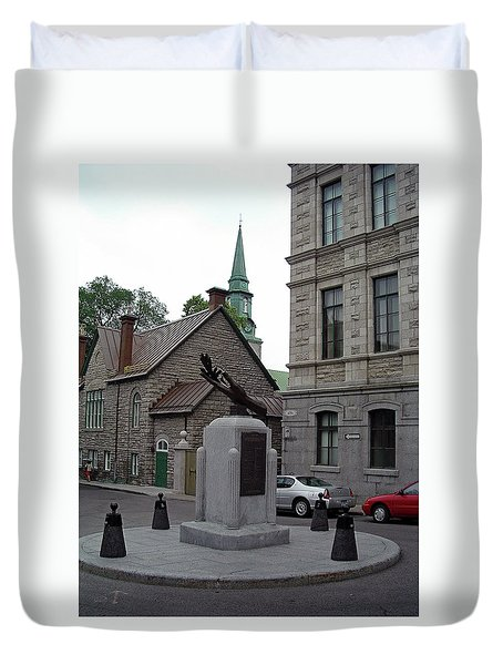 Duvet Cover featuring the photograph Donnacona And Du Parloir by John Schneider