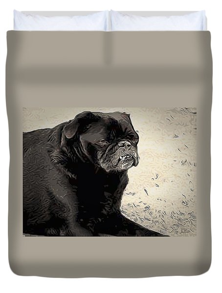 Donnas Bulldog Duvet Cover