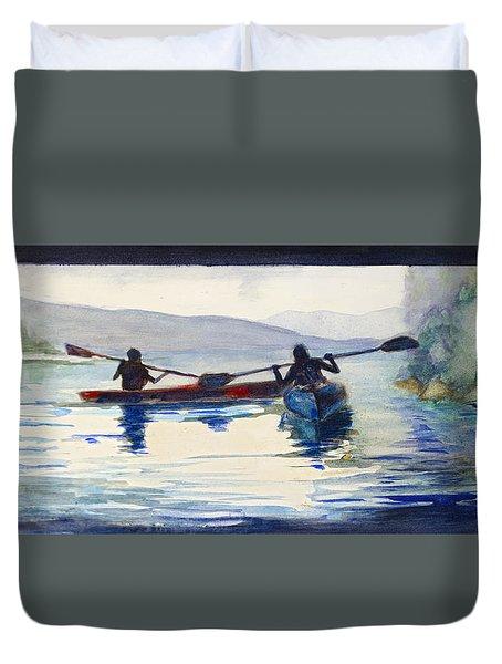 Donner Lake Kayaks Duvet Cover