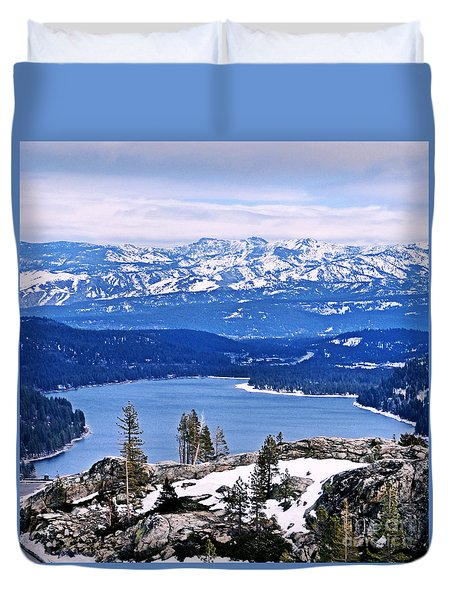 Donner Lake Duvet Cover