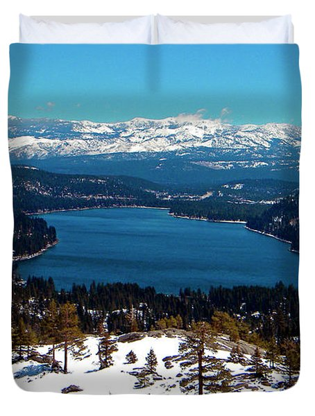 Donner Lake Sierra Nevadas Duvet Cover