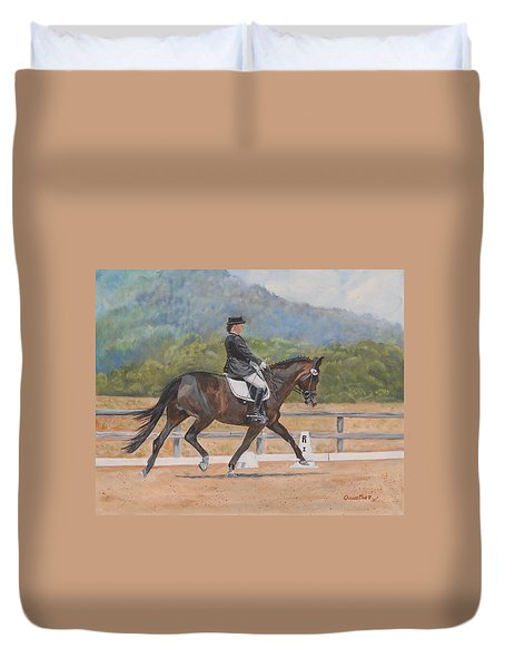 Duvet Cover featuring the painting Donnerlittchen by Quwatha Valentine