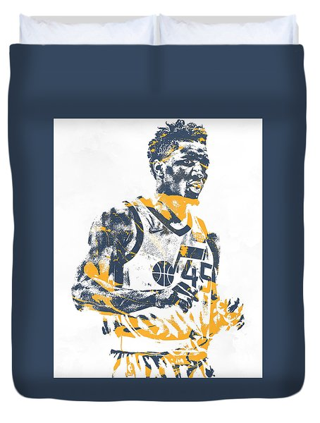 Donovan Mitchell Utah Jazz Pixel Art 11 Duvet Cover